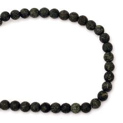 Наниз мъниста полускъпоценен камък ЗМЕЕВИК топче матирано 10 мм ~38 броя