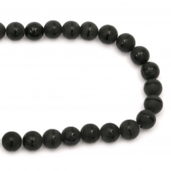 Gemstone ONYX black painted matte ball 14 mm ~ 28 pieces