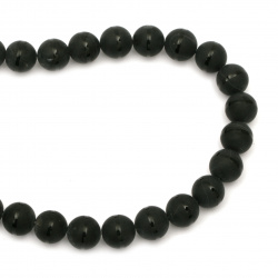Șireturi mărgele piatră semiprețioasă ONYX bile vopsite negru 16 mm ~ 25 bucăți