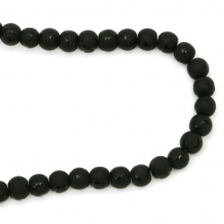 Gemstone ONYX black painted matte ball 8 mm ~ 48 pieces