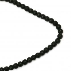 Șireturi mărgele piatră semiprețioasă ONYX bile vopsite negru 8 mm ~ 48 bucăți
