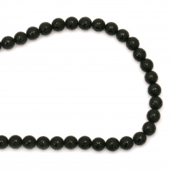 ONYX black painted matte bead 8 mm string beads  ~ 50 pieces