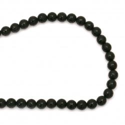 ONYX mărgele vopsită negru mat 8 mm margele de șnur semiprețioase ~ 50 bucăți