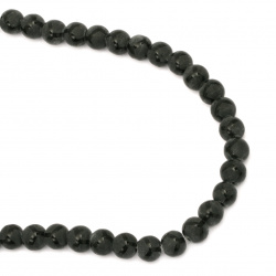 ONYX black painted matte bead   8 mm ~ 48 pieces