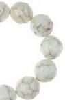 Șireturi margele piatră semiprețioasă HOWLIT margele alb natural fațetat 10 mm ~ 38 bucăți