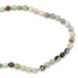 String beads gemstone AMAZONITE faceted ball 10 mm ~ 36 pieces