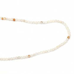 String beads WHITE ball faceted Agate 4 mm ~ 94 pieces