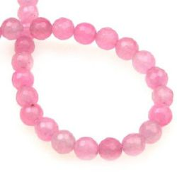 Pink Quartz Faceted beads  semi-precious stone 6mm ~ 74 pieces