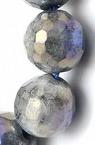 ЛАБРАДОРИТ топче фасетирано 8 мм наниз мъниста полускъпоценен камък ~48 броя