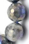 ЛАБРАДОРИТ топче фасетирано 10 мм наниз мъниста полускъпоценен камък ~38 броя