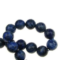 String Beads Semi Precious Stone LASURITE LAPIS Bead 12mm faceted ~ 32 pieces