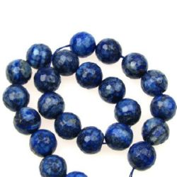 String Beads Semi Precious Stone LASURITE LAPIS Bead 14mm faceted ~ 30 pieces
