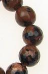 Șireturi mărgele piatră semiprețioasă SUNNY STONE minge maron și albastru fațetat de 10 mm ~ 36 bucăți