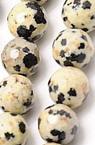 Наниз мъниста полускъпоценен камък ЯСПИС Далматински топче фасетирано 10 мм ~38 броя