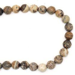 String Beads Semi-Precious Stone Jasper Landscape Bead Faceted 10mm ~ 38 Bucăți
