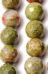Margele cu șnur din piatră semiprețioasă Margele fațetată UNAKIT NATURAL 10 mm ~ 38 bucăți