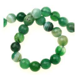 Sir margele piatră semiprețioasă  AGAT dungi verzi bila fetate 8 mm ~ 47 bucăți
