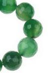 Sirtag margele piatră semiprețioasă  AHAT verde bila fetate  14 mm ~ 28 bucăți