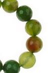 Наниз мъниста полускъпоценен камък АХАТ зелен топче фасетирано 10 мм ~38 броя