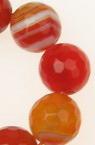Αχάτης striped στρόγγυλη ταγιέ ημιπολύτιμη χάντρα 12 mm πορτοκαλί ~ 33 τεμάχια
