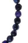 String beads striped stone Agate purple ball faceted 4 mm ~ 95 pieces