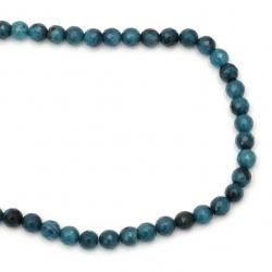 Sir  margele piatră semiprețioasă  AGAT albastru-verde bila fetate  8 mm ~ 47 bucăți