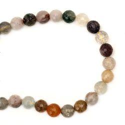 Rutile Quartz 10 mm String Assorted Faceted Beads Semi Precious Stone ~37 Pieces