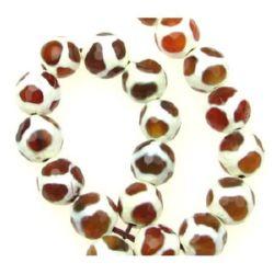 Sir margele piatră semiprețioasă AGAT portocaliiu bila fetate  10 mm ~ 37 bucăți
