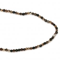 Sir margele piatră semiprețioasă AGAT maron mix bila fetate  4 mm ~ 96 bucăți