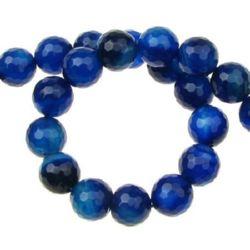 Sir margele piatră semiprețioasă AGAT  albastru  bila fetate 10 mm ~ 38 bucăți