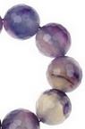 Sirtag margele piatră semiprețioasă  AHAT violet  bila fetate  14 mm ~ 27 bucăți