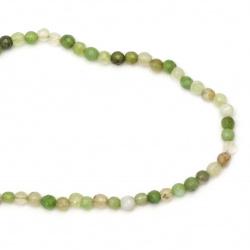 Șir de mărgele din piatră semiprețioasă AGAT verde deschisă cu dungi 6 mm ~ 65 bucăți