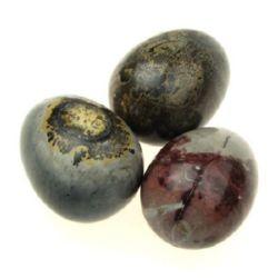 Яйцe естествен камък 36~42x47~52 мм без дупка