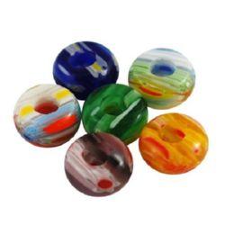 Acrylic beads 14 x 7 mm  MIX