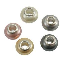 Margele ART-soare-perlă 14x9 mm gaură 5 mm