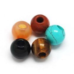 Мънисто естествен камък АСОРТЕ 16x15 дупка 6 мм