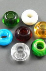 Art glass round beads, fits Pandora style bracelets 14x8.5 mm hole 5 mm