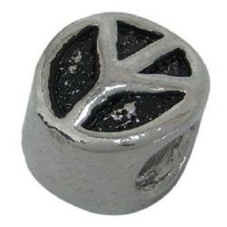 Мънисто АРТ 9x8 мм дупка 4.2 мм фигурка метал