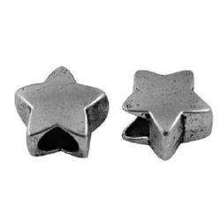 Мънисто АРТ метал звезда 12 мм дупка 5 мм -5 броя