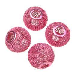 Мънисто АРТ метално мрежа 20x17 мм дупка 6 мм розово