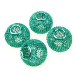 Мънисто АРТ метално мрежа 20x17 мм дупка 6 мм зелено