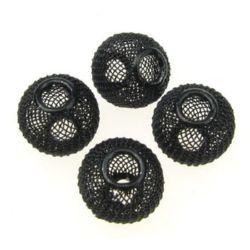 Мънисто АРТ метално мрежа 20x17 мм дупка 6 мм черно
