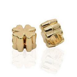 Мънисто АРТ метално детелина 10x10x6 мм дупка 5 мм цвят злато