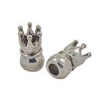 Margele ART coroană 18 mm gaură 85 mm culoare metalică argintiu vechi