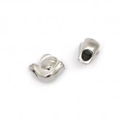 Мънисто АРТ стомана гълъб 11x11 мм дупка 4.5 мм цвят сребро