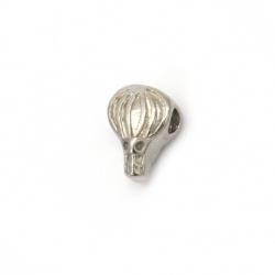 Мънисто АРТ стомана 9x12 мм дупка 3.5 мм цвят сребро