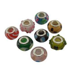 Margele ART sticlă culoare 14x10 mm gaură 5 mm
