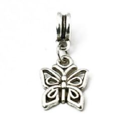 Metal jewellery charm butterfly 27  mm