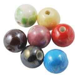 Porcelain beads 18 mm MIX