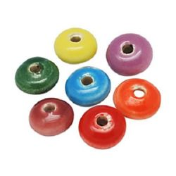 Porcelain beads 15 x 9 mm MIX